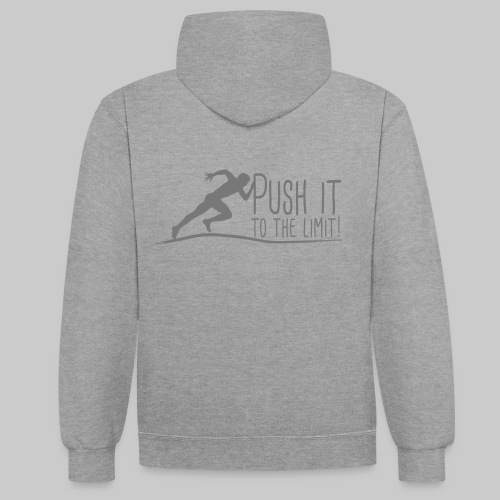 Push it to the limit Man - Kontrast-Hoodie