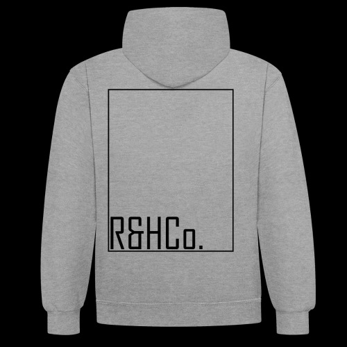 R&HCo design black - Contrast Colour Hoodie