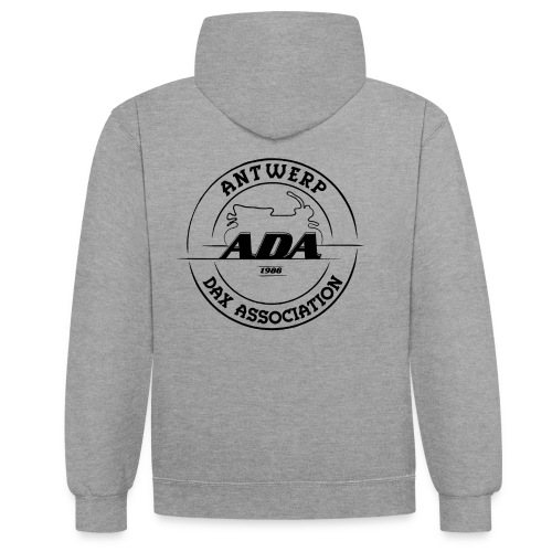 ADA DAX Logo Groot Zwart - Contrast hoodie