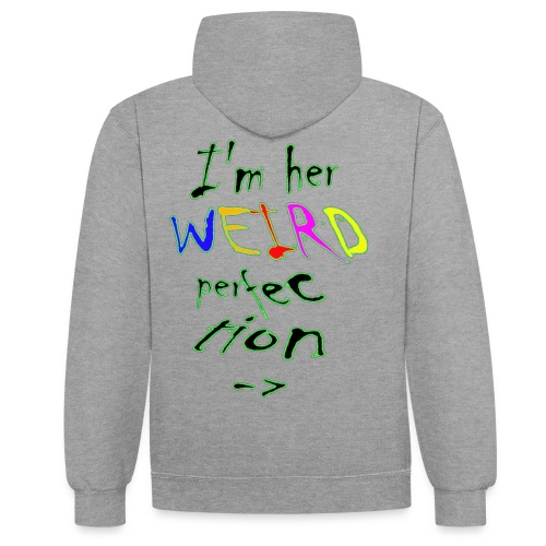 liefde is blind... - Contrast hoodie