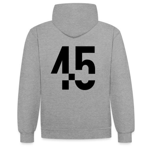 45 Black - Kontrastluvtröja