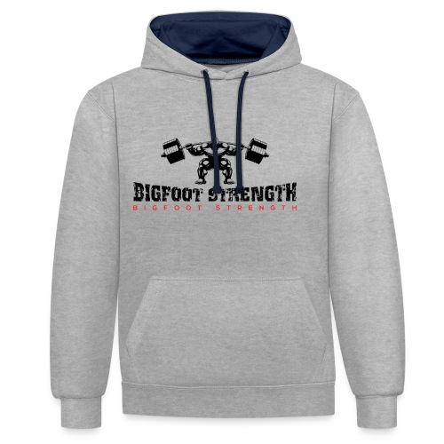 Bigfoot Strength 1 - Contrast Colour Hoodie