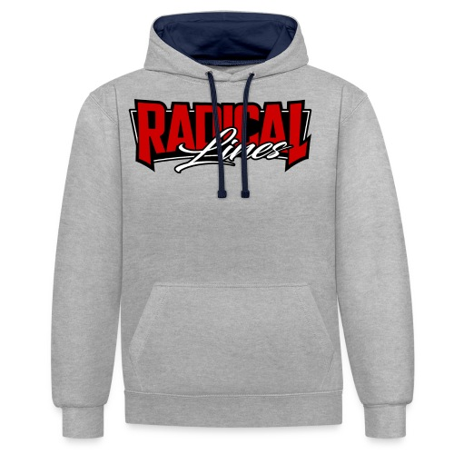3 colors blood red regularsized2 png - Contrast Colour Hoodie