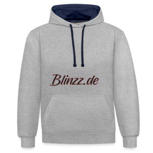 Blinzz Tshirt Schrift Gro - Kontrast-Hoodie