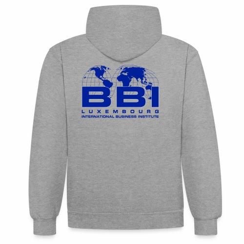 Blue Logo Collection - Contrast Colour Hoodie