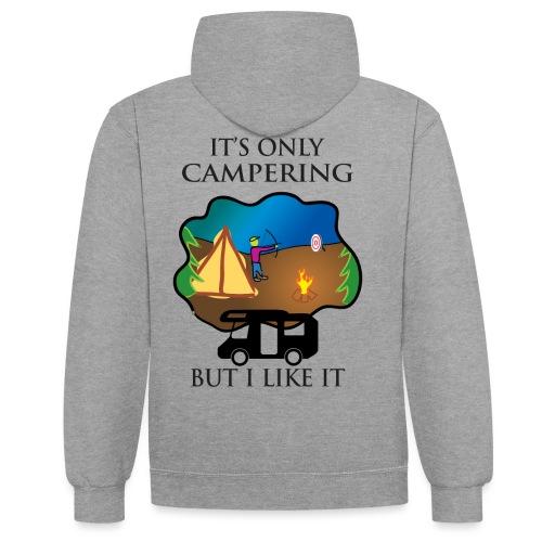 To tylko campering, ale to lubię - Bluza z kapturem z kontrastowymi elementami