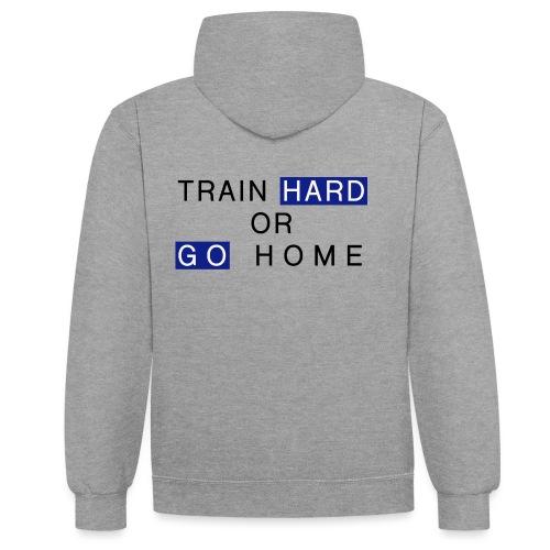 Train Hard - Kontrast-Hoodie