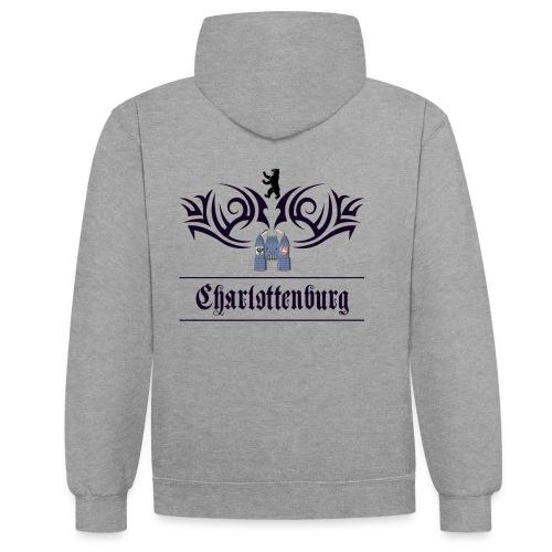 charlottenburg_tribal - Kontrast-Hoodie