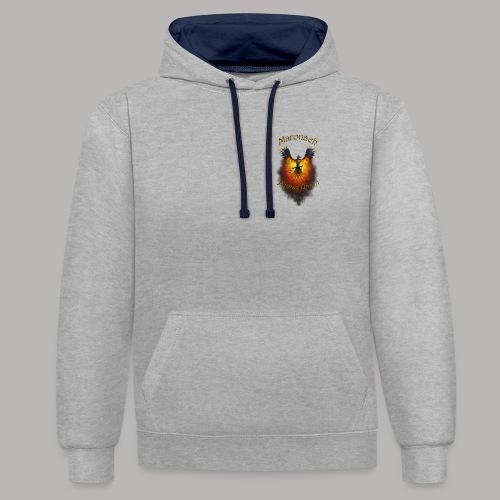 Maronach-und-Logo - Kontrast-Hoodie