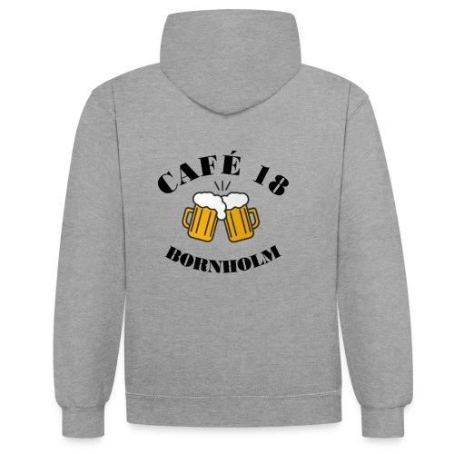 Café 18 Logo 2020 - Kontrast-hættetrøje