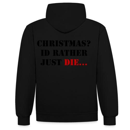 Christmas joy - Contrast Colour Hoodie