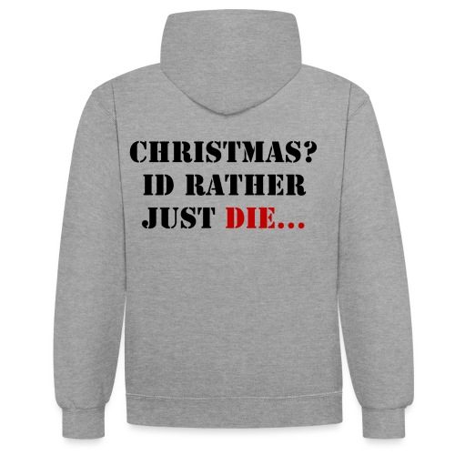 Christmas joy - Contrast Colour Hoodie