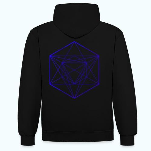 Minimal geometry - Contrast Colour Hoodie