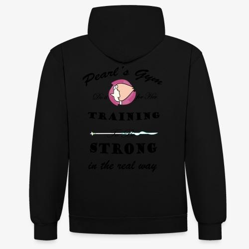 Strong in the Real Way - Felpa con cappuccio bicromatica