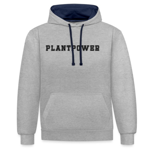 Plant Power Vegan Team Nummer 1 - Kontrast-Hoodie
