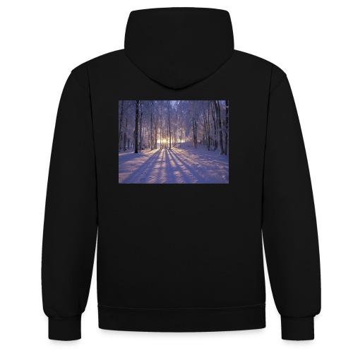 Wintercollectie - Contrast hoodie