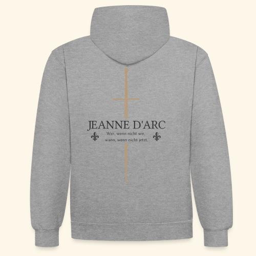 Jeanne d arc dark - Kontrast-Hoodie