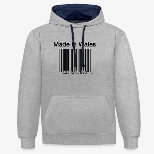 Made in Wales - Contrast Colour Hoodie