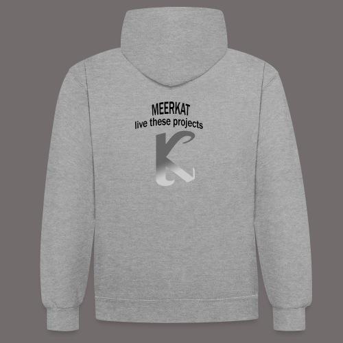 Première collection MEERKAT - logo et slogan - Sweat-shirt contraste