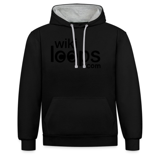 wikiloops square logo - Contrast Colour Hoodie