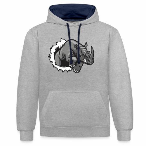 Méchant rhinocéros - Sweat-shirt contraste