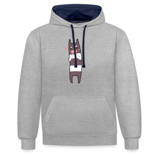Donut Monster - Contrast Colour Hoodie