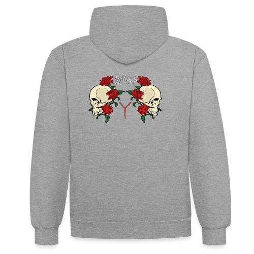 YARD skull and roses - Contrast hoodie