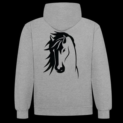 Stallion - Contrast Colour Hoodie