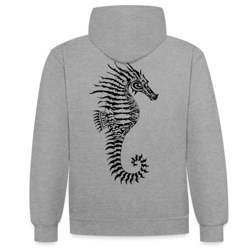 Alien Seahorse Invasion - Contrast Colour Hoodie
