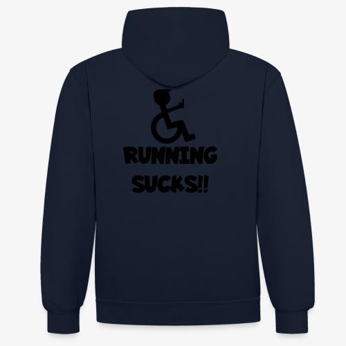 Rolstoel gebruikers haten rennen - Contrast hoodie