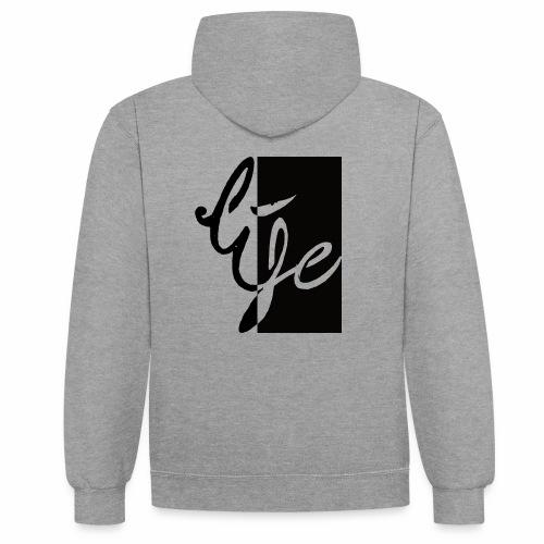 Life Logo 02 - Sweat-shirt contraste