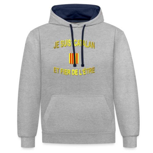 Tee-Shirt supporter du pays CATALAN - Sweat-shirt contraste