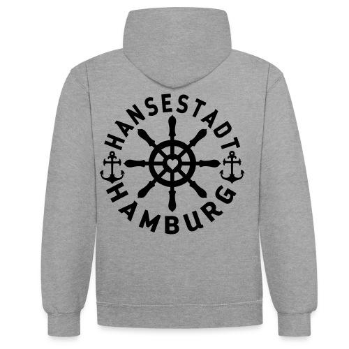 Hamburger Steuerrad - Kontrast-Hoodie