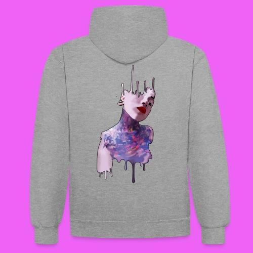 icream girl - Sudadera con capucha en contraste