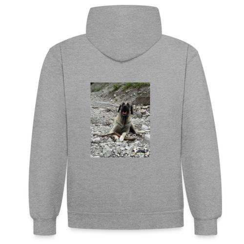 Hoodie Kangal im Flußbett - Kontrast-Hoodie