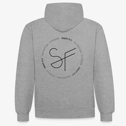 SMAT FIT nutrition & fitness white home - Sudadera con capucha en contraste