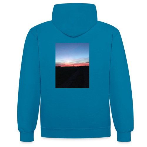 late night cycle - Contrast Colour Hoodie