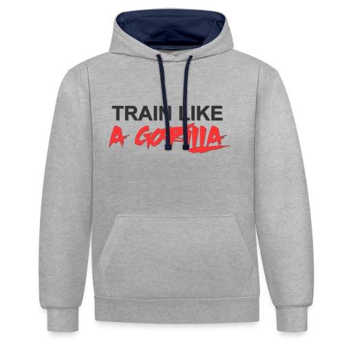 TRAIN LIKE A GORILLA - Sweat-shirt contraste