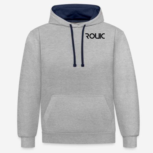 rouic black - Contrast Colour Hoodie