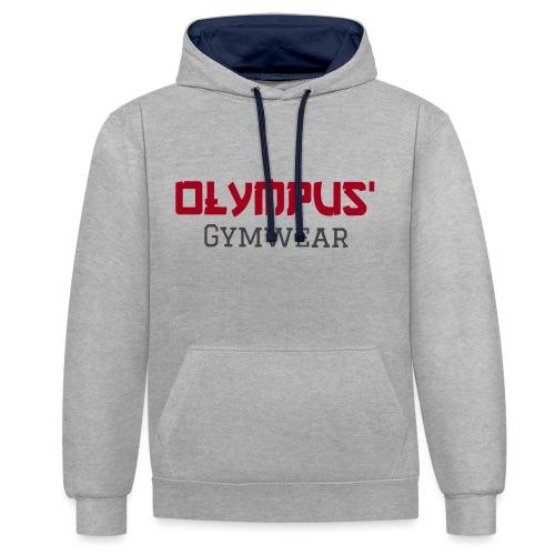 Olympus' gymwear - Contrast Colour Hoodie