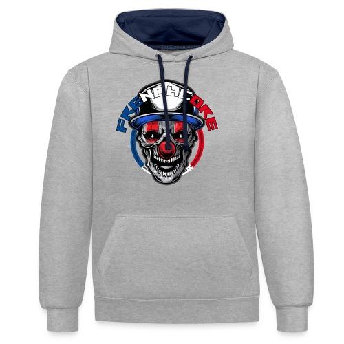 Frenchcore Clown - Kontrast-Hoodie