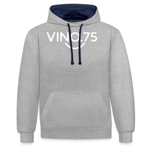 VINO75 - Felpa con cappuccio bicromatica