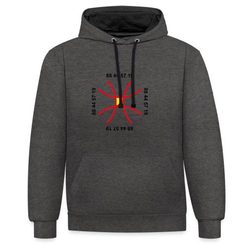 TIAN GREEN - Anti Corona Symbol - Kontrast-Hoodie