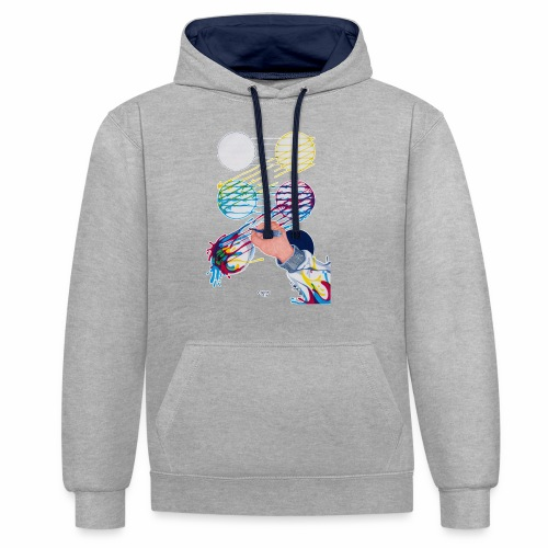CMYK Mix and flow - Contrast Colour Hoodie
