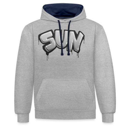 Tag Sun N&B - Sweat-shirt contraste