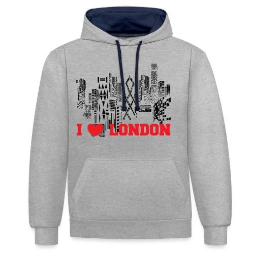 I LOVE LONDON SKYCRAPERS - Sudadera con capucha en contraste