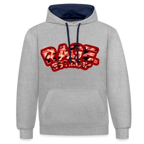 RAGE EST .2017 RED - Contrast Colour Hoodie