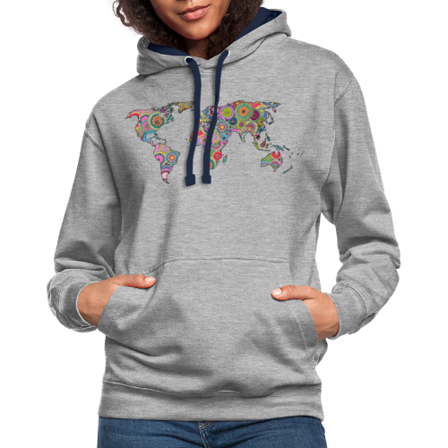 Hipsters' world - Contrast Colour Hoodie