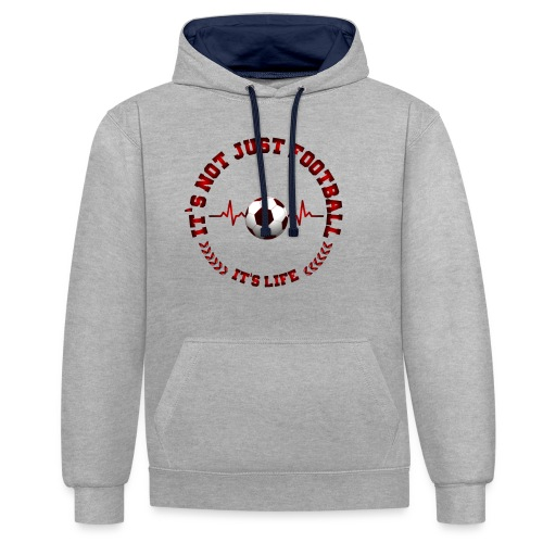 Football Life - Contrast Colour Hoodie