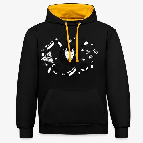 TRIPPY - Contrast hoodie